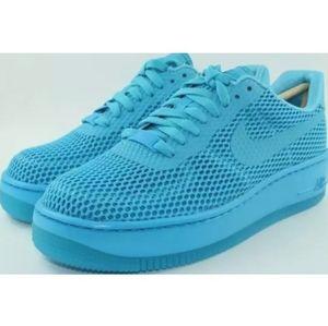 Nike Women's Air Force 1 Low Upstep BR  Blue Lagoo